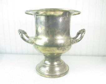 Silver champagne bucket, silver ice bucket, bar ware, mid century decor, wine chiller, vintage ice bucket, Silver Plate