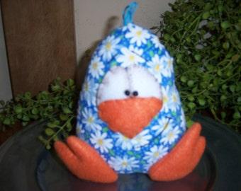 Primitive Handcrafted Easter Egg Doll Ornie Tuck Shelf Sitter Bowl Filler