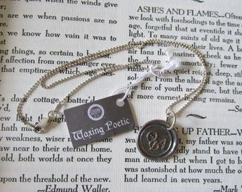 """NOS STERLING 18"""" Necklace & Theta Phi Alpha Greek Society Sorority Charm by Waxing Poetic Chain Marked 925 Italy Original Bag and Tag"""