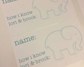 Good Baby Shower Name Tag   Elephant Name Tag   Bridal Shower Name Tag    Personalized Name