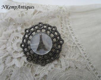 Vintage Paris brooch eiffel tower