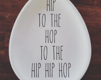 Hip to the hop to the hip hip hop | Rae Dunn Inspired Vinyl Decal | Easter decor