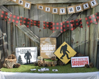 Bigfoot themed party decorations