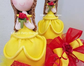 Belle Centerpiece, Beauty and the Beast, Princess Belle