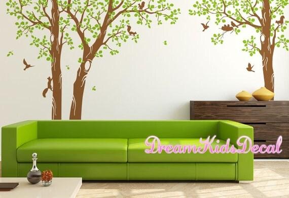 Wand aufkleber baum wandtattoo wandtattoo wohnzimmer natur - Wandtattoo natur ...