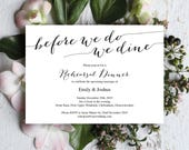 Rehearsal Dinner Invitation Template, Wedding Rehearsal, Rehearsal Invitation, Printable Template, Dinner Invitation, Elegant Invite, MM05-1