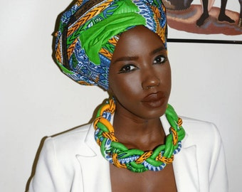 Dashiki  Necklace and Headwrap (Sold Separately)
