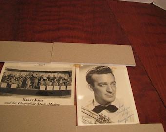Vintage Harry James Photos and Autograph