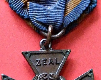 For Zeal For Christ. Methodist Youth movement medal with ribbon