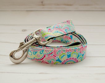 "5 foot long Dog Leash in ""The Lilly"" to match Flower Collars"