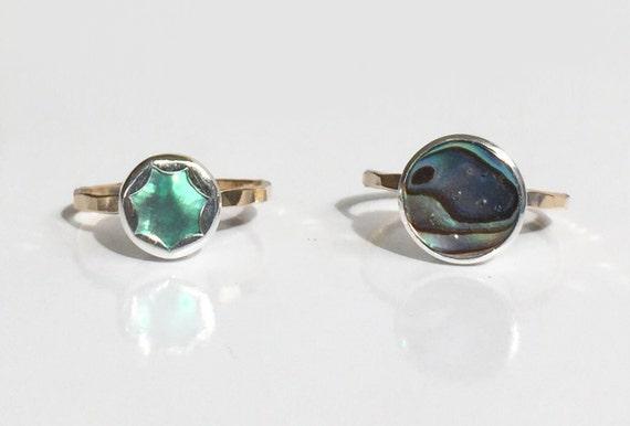 abalone stacking ring, size 7