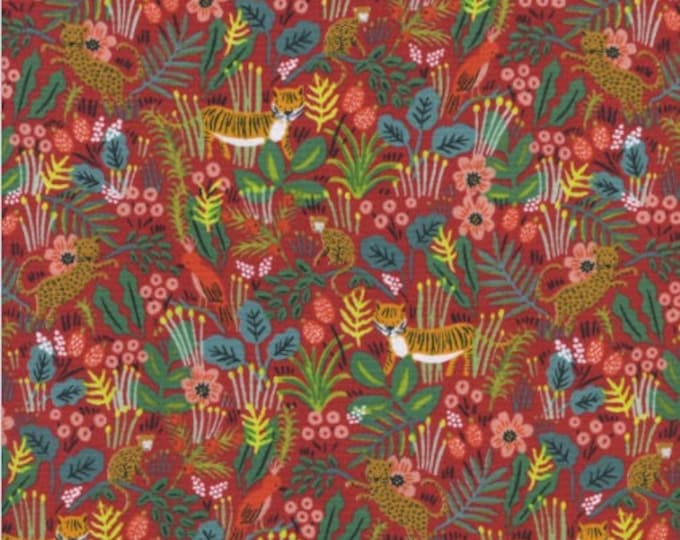 Jungle in Red -Menagerie -Anna Rifle Bond for Cotton + Steel
