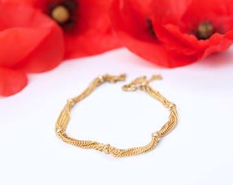 MULTISTRAND bracelet 24 K Gold