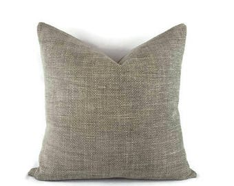 Dark Gray and Gray Basket Woven Chenille Pillow Cover