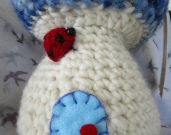My  own 'Fairy Toadstool' - handmade crochet