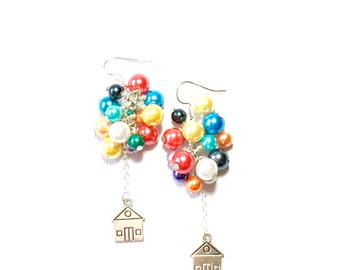 House and Balloon Earrings