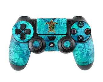 Sony PS4 Controller Skin Kit - Sacred Honu by Al McWhite - DecalGirl Decal Sticker