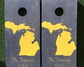 Cornhole Game by ColoradoJoes Michigan and Michigan State
