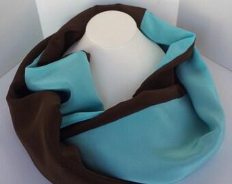 Silk Crepe Infinity Scarf