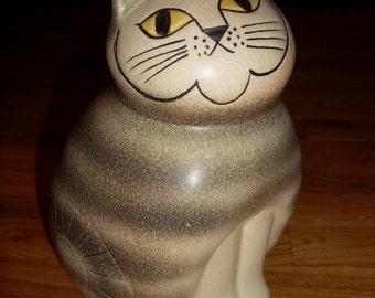Big Cat Figurine MIA Gustavsberg Pottery Lisa Larson Sweden Ceramic 1970s Scandinavian