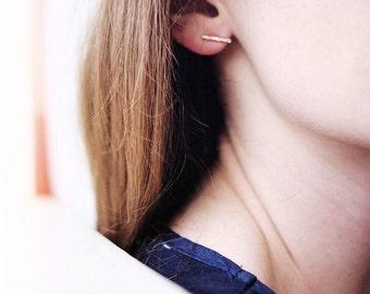 Bar Stud Earrings, Gold Bar Earrings, Gold Stud Earrings, Gold Bar Stud Earrings, Stud Earrings, Bar Earrings Silver, Bar Earrings Rose Gold
