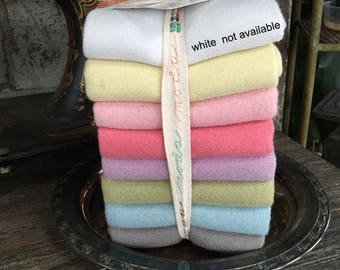 Wool Bundle: Pastel Wool Fat Quarter Bundle - Bunny Hil Designs for Moda Fabrics