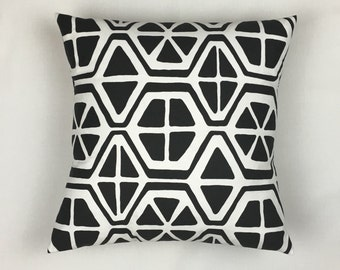 20x20 Pillow Cover - Square Pillow Covers 20x20 - 20x20 Throw Pillow Cover - Home Decor Pillows - Designer Pillows - Black Sofa Pillows 0001