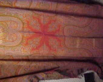 Antique Paisley Shawl  64x64 inches, Some damage holes, #2061