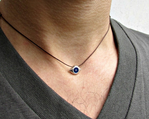 Tiny Evil Eye Necklace, Protection Necklace, Dainty Eye Necklace, Silver Evil Eye Pendant, Best Friend, Boyfriend Gift