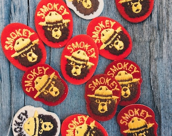 vintage patch - Smokey Bear (red)