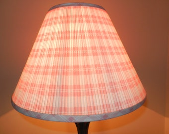 Beautiful Vintage Pink Stripe, Pleated Bell Spider Shade