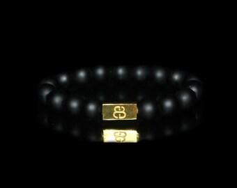 Men's Bracelet, For Men, Bracelets for Men, Onyx Bracelet, Bracelet Man, Black Beads Bracelet, Mans Bracelet, Bead Bracelets Men