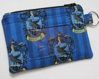 Limited! Harry Potter Hogwarts Ravenclaw Keychain ID Wallet, Student / Teacher / Work ID, Badge Holder, Zip Pouch - 2 Options for ID Pocket