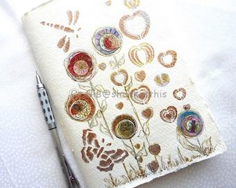 Colourful Flowers Journal pocket book notebook Planner Organiser pocket book original thank you gift