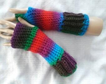 Crochet Fingerless Madeleine Gloves-Orchard