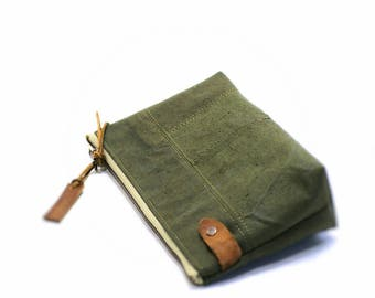 Canvas makeup bag, cosmetic bag, zipper cosmetic bag, zipper pouch, gifts for women