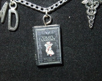 Gray's Anatomy Book Necklace