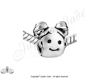Pugster Silver Plated European Bracelet Charm - Daughter / Mother's Girl with Pigtails - Size compatible w Pandora