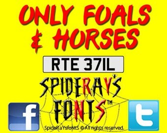 ONLY FOALS & HORSES Commercial Font