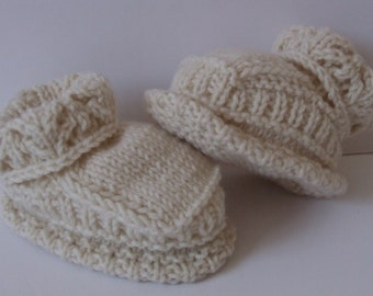 Cashmere baby boots