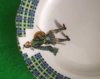 Vintage Scottish Warrior Side Plate Scottish Clan GRAHAM Bonnie Scotland Design Royal Standard Bone China