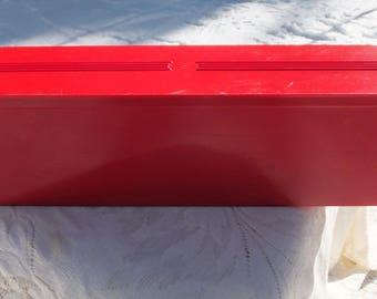 Red Plastic Sandwich Keeper, Thermos Sandwich Keeper, Plastic Sandwich Box