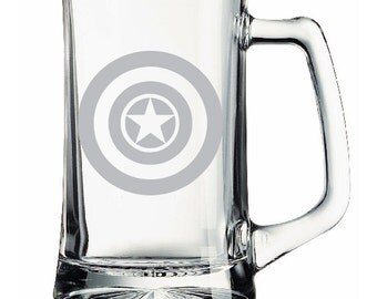 Captain America Etched Mug Personalized