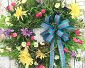 Summer Wreaths Front Door...