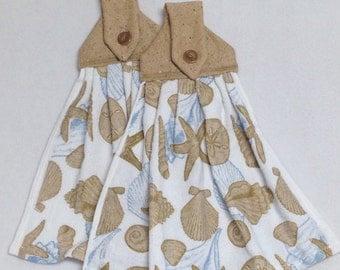 Seashells- Hanging Kitchen Towels