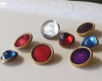 SALE!*** 8 Waistcoat Buttons Jewel Buttons Bodice Buttons