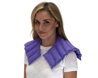 FREE SHIPPING & SALE! Heating Pad Microwaveable, Stressed Shoulder and Neck Heat Wrap, Rice Heating Pad. Heat Therapy. Purple Marble