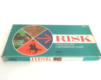 Vintage Risk Game 1968 Board Strategy World Domination Game Nice Condition