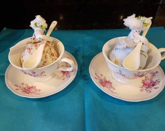 Tea Cup Tea ladies, China tea cups with spoon