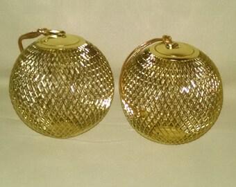 Gold colored metal ornament